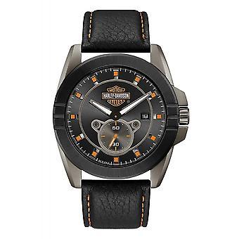 Harley Davidson 78B182 Men's Gunmetal Grey Case Wristwatch