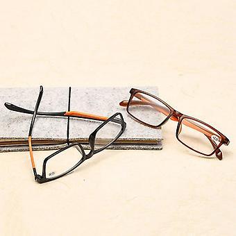 Occhiali da lettura Ahora Tr90, occhiali lettore di lenti trasparenti in resina retrò ultraleggera