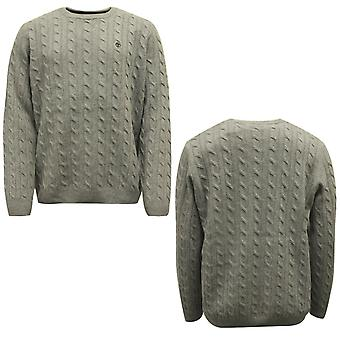 Timberland Merino Wolle Kabel Crew Pullover grau Pullover Pullover A1XR8 052 X20A