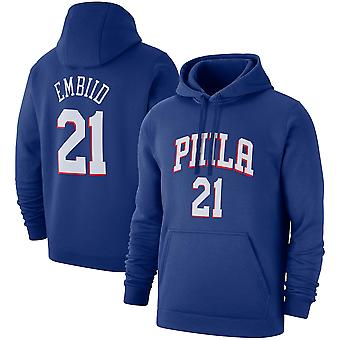 Philadelphia 76ers No.21 Embiid Pullover Hoodie Swearshirt Tops 3WY367