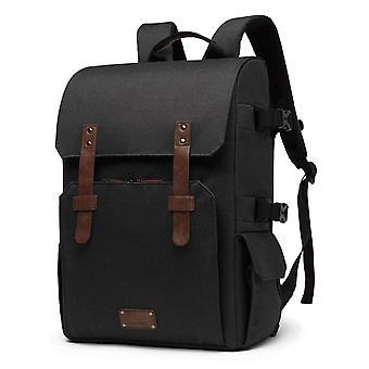 "Bagsmart chic camera backpack slr/dslr camera bag for 70-200mm lens & 15"" laptop with waterproof rai"