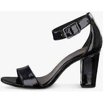 Sandálias de salto alto patente pretas