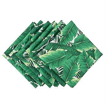 Dii Banana Leaf Print Al aire libre Napkin (conjunto de 6)