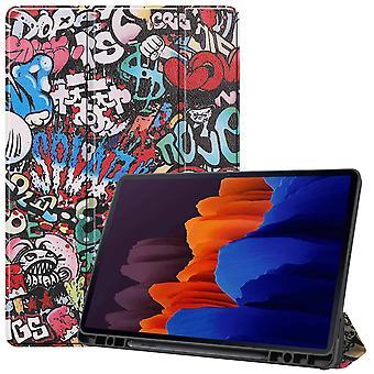 FONU Tri-Fold SmartCase Cover Samsung Galaxy Tab S7 PLUS (2020) 12.4 Zoll - (T970 / T975) - Graffiti