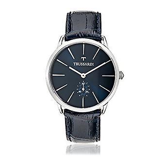 Relógio de quartzo analógico Trussardi Mens com cinta de couro R245116003