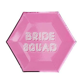 Bride Squad Hen Party Paper Plate - 8 Pack
