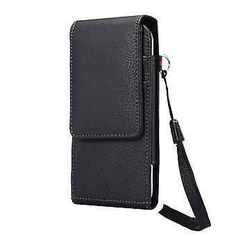 Leather Holster Case Belt Clip Rotary 360 with Card Holder and Magnetic Closure for VERTU ASTER P (2018)