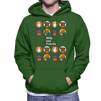 Miffy og venner Mænd 's Hætteklædte Sweatshirt