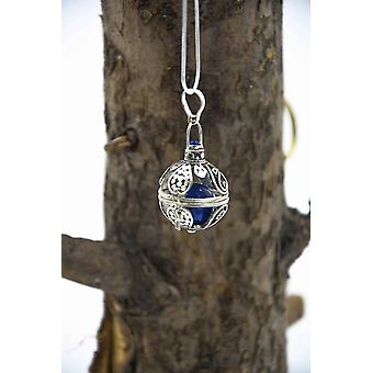 Silver Chime Cage Necklace For Bells Or Crystals