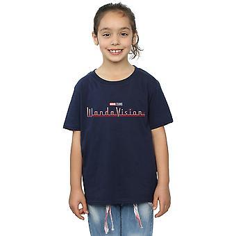 Marvel Girls WandaVision Logo T-paita