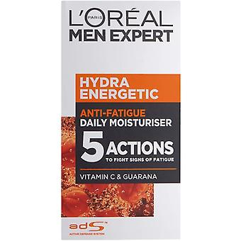 3 x L'Oréal Paris Men Expert Hydra Energetic Anti-Fatigue Daily Moisturiser 50ml