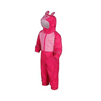 Kids Charco Waterproof Breathable Puddlesuit with Animal Theme Hood