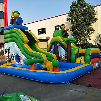 Inflatable Water Slide, Kids Playground With Pool