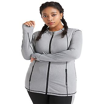 Women&s plus storlek yoga fitness sport topp M17
