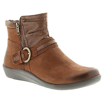 Earth Spirit fairfax leather womens ladies ankle boots brown UK Size
