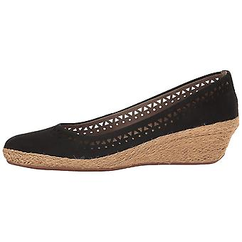 Easy Spirit Womens Derely Leather Round Toe Wedge Pumps