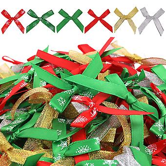 5pcs Gift Wrapping Christmas Tree Wreaths Bowknot