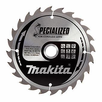 Makita B-09173 Specialized Circular Saw Blade 165mm x 20mm x 24T
