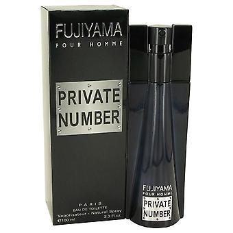 Fujiyama Private Number Eau De Toilette Spray By Succes De Paris 3.3 oz Eau De Toilette Spray