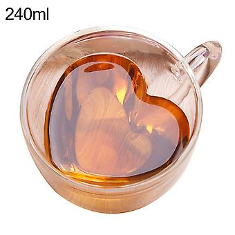 6pcs 80ml 2.7oz Glass Double Walled Heat Insulated Tumbler Espresso Tea Cup