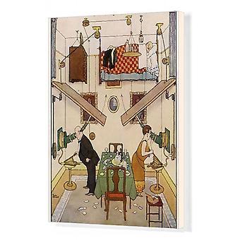 Et ideelt hjem nr. V. Sparerommet av William Heath Robinson. Boks lerret utskrift. Dette er W. Heath.