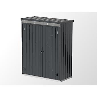 Metalen tuinhuis/Metalen kast 1,61x0,77x1,96m, 1,24m², Antraciet