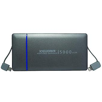 Iceworks 5000 portable charger   [ mfi apple certified ] ultra-slim portable external battery for