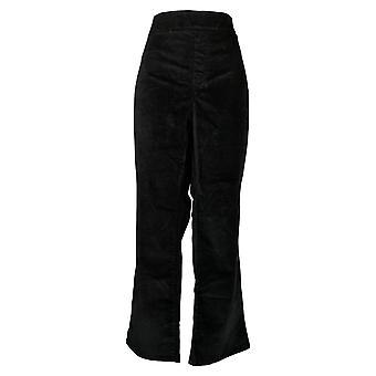 DG2 by Diane Gilman Women's Petite Jeans Stretch Velvet Black 727983