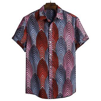 Men & apos;s الرجعية نمط القطن قميص