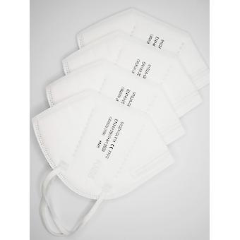 10-100 stk influensa ansiktsmasker Fpp2 5-lags filter beskyttelse masker