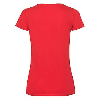 Fruit Of The Loom Ladies/Womens Lady-Fit V-Neck Short Sleeve T-Shirt