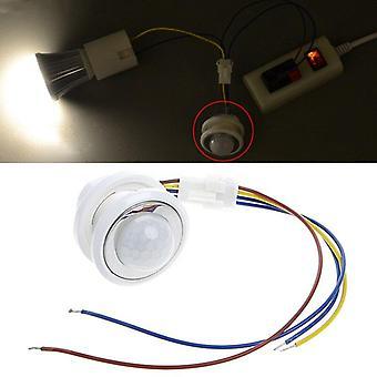40 mm led Pir-detektor infrarød bevægelsesfølerkontakt med tidsforsinkelse justerbar