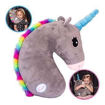 Funny Unicorn Pillow Udstoppede Dyr Bil Sikkerhedssele Cover (pude)