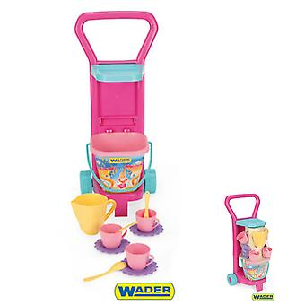 Wader Toy Coffee Service avec Toy Bucket et Carriage Height 59 cm 10772
