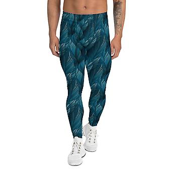 Teal Feather Leggings