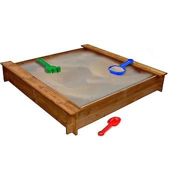 vidaXL sandbox wood square