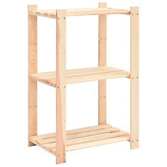 vidaXL полка для хранения с 3 этажами 60×38×90 см сосна массивная древесина 150 кг