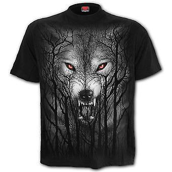 T-shirt lupo foresta spirale 4XL