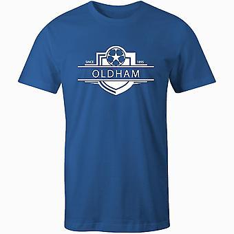 Oldham athletische 1895 etablierte Abzeichen Fußball T-shirt