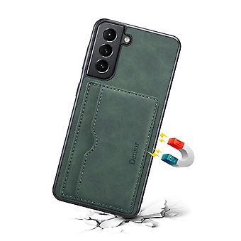 Slot per la custodia in pelle portafoglio per samsung note20 verde scuro pc1860