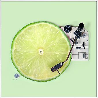 JUNIQE Print - Lemon DJ - Lemon Plakat i Grøn & Turkis