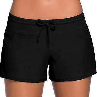 S fekete női fürdőruha rövidnadrág tankini úszónadrág plusz méret alsó boardshort nyári fürdőruha strandnadrág lányoknak x4885