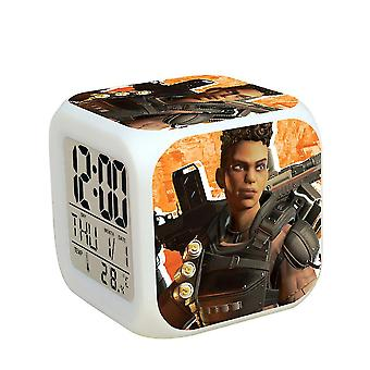 Apex Legends Led Colorful Electronic Animated Thermometer Glowing Cube Alarm Clock