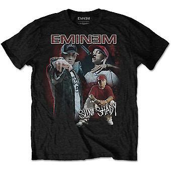 Eminem - Shady Homage Mäns Stora T-Shirt - Svart