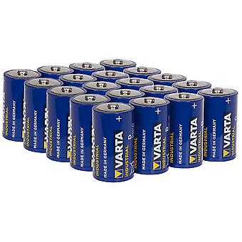 Varta Industrial D Size LR20 Alkaline Batteries 1.5V Pack of 20