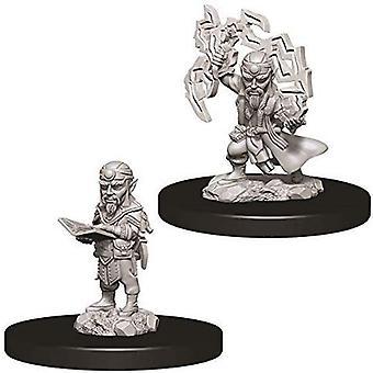 Pathfinder Deep Cuts Omålade miniatyrer - Manlig Gnome Trollkarl