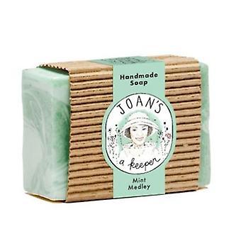 Joans A Keeper Hand Made Soap, Mint Medley, 3.75 Oz