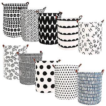 Foldable Laundry Basket Large Capacity Laundry Hamper Dirty Clothes Storage Organizer Bucket