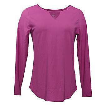 Elizabeth & Clarke Women's Top (XXS) Long-Sleeve w/ Keyhole Pink A382692