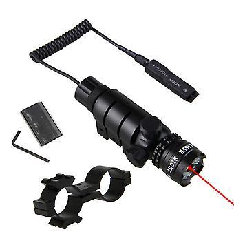 Taktinen punainen / vihreä laser näkö kivääri scope kytkin 11mm kisko mount hunt